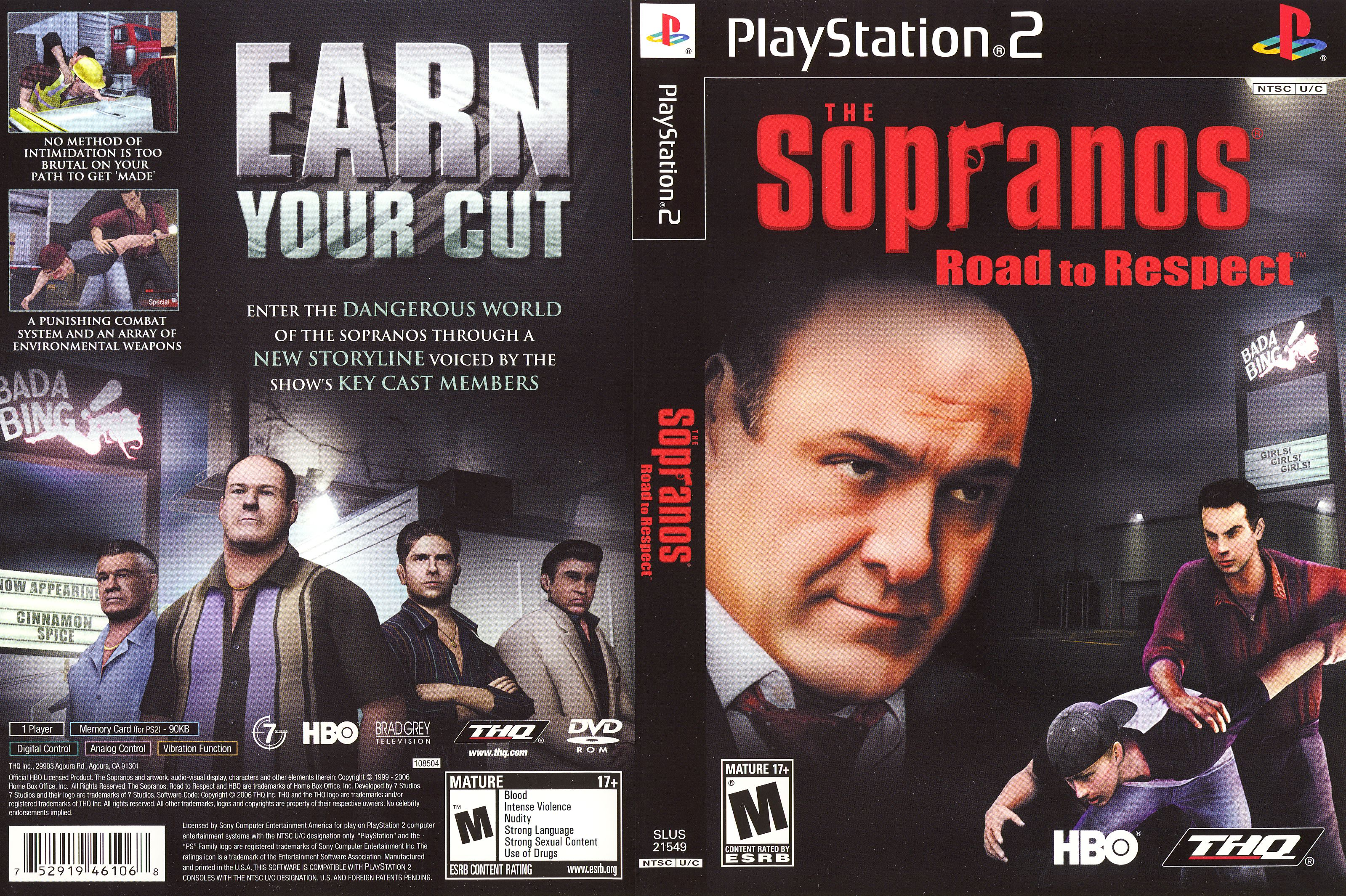 Pin By Smith On Playstation 2 Game Covers Sopranos Hbo It Cast