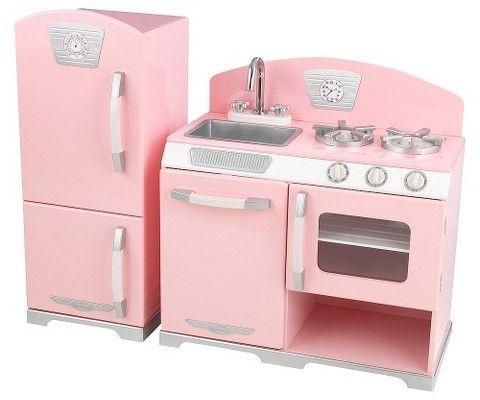 Retro Kühlschrank Pink : Kidkraft pink retro kitchen and refrigerator play set #ad#kitchen