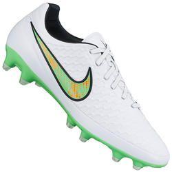 Chuteira de Campo Nike Magista Orden FG - Branco Verde Cla Desconto  Centauro para Chuteira de Campo Nike Magista Orden FG - Branco Verde Cla  por apenas R  ... f3f22a26c0d65
