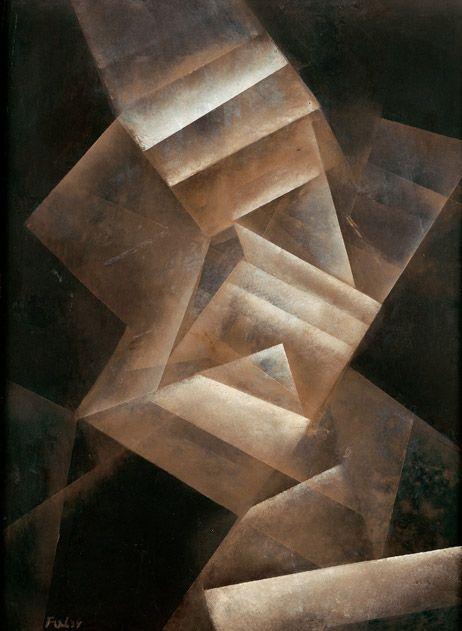 Fritz Winter - Stufungen [Gradations], 1934. Oil on paper on canvas, 100.5 x 75.5cm