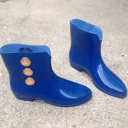 #VIVIENNEWESTWOOD / 8M / NWOB 'Melissa' royal blue rainboot galoshes / ebay