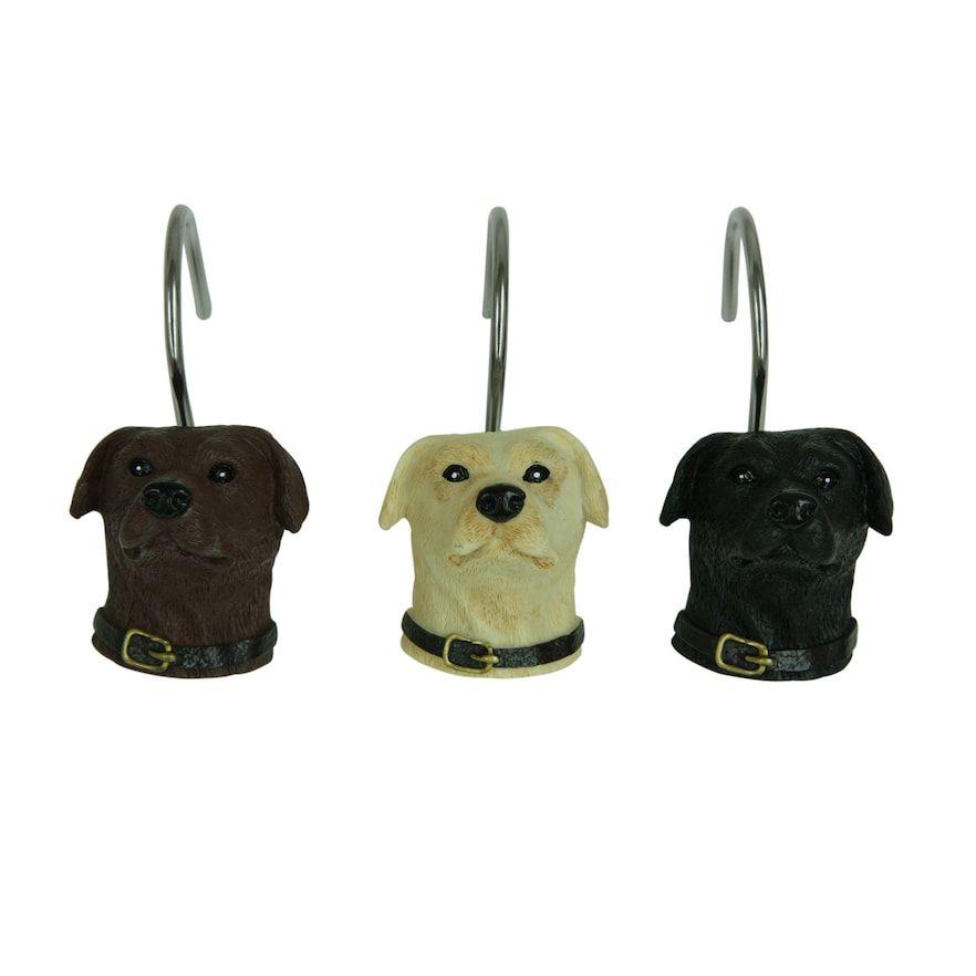 Bacova Woodland Dogs Shower Curtain Hooks Shower Curtain Hooks