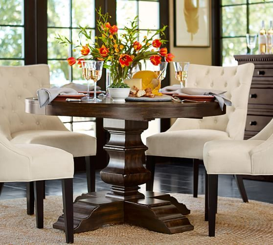 Banks Round Pedestal Extending Dining Table Alfresco Brown Decoracion De Unas Casas Y Casitas