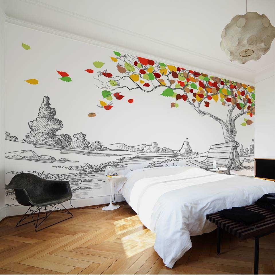 Wallpaper Sticker Autumn By Sticky Home Decor Wallpaper
