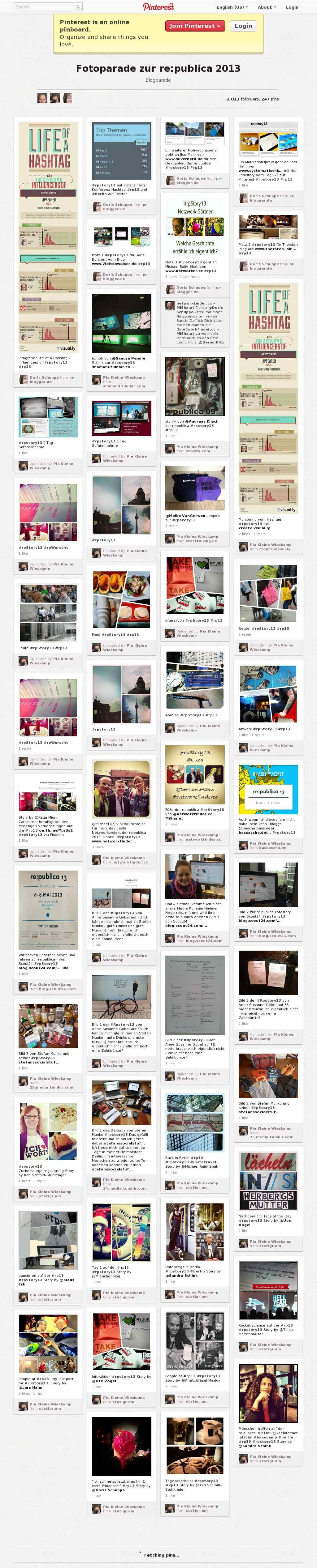 One of the greatest #SocialMedia #Networking Ideas of 2013 #rpStory13 by @Pia Lappalainen Kleine Wieskamp @Doris Vee Schuppe @Klaus Ødegårdstuen Eck  #FF Visual Storytelling http://pr-blogger.de/2013/05/31/die-sieger-der-fotoparade-zur-republica/