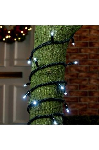 always wanted that winter wonderland garden but haven't known how to get it? Simply wind our flashing white connectable 5m lights around your tree