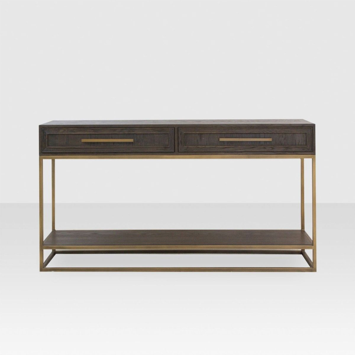 Spencer Console Table Dark Oak Console Table Industrial Design Furniture Modern Console Tables
