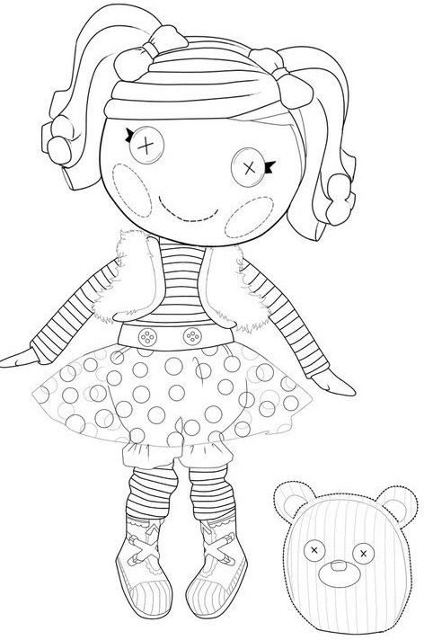 Lalaloopsy Mittens Fluff n Stuff coloring page : Printables for Kids ...