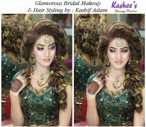 Bridal Hair Styles By Kashee S 2015 Hair Styles Bridal Hair And Makeup Beautiful Bridal Makeup