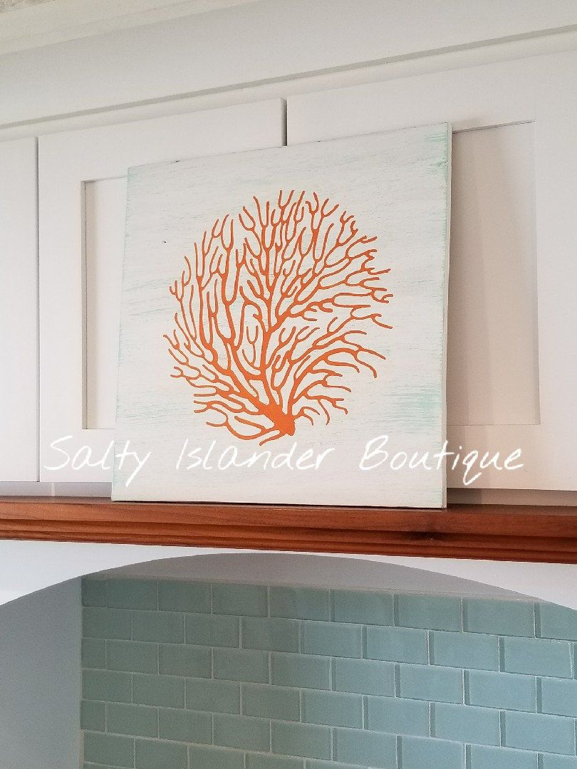 Coral wall hanging coral wall decor fan coral wall decor fan