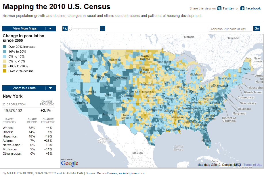 Mapping America Every City Every Block Map America - Mapping the 2010 us census
