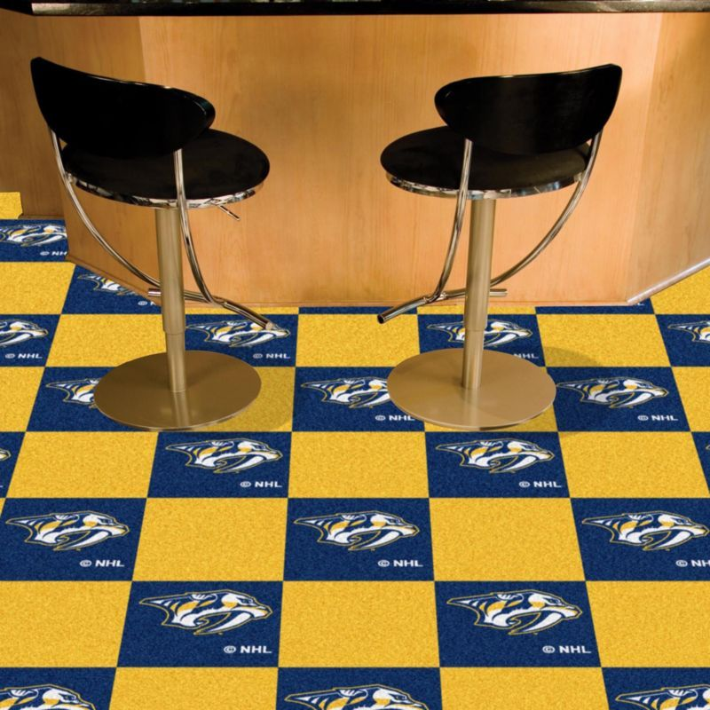Fanmats Nashville Predators Carpet Tiles, Team Carpet