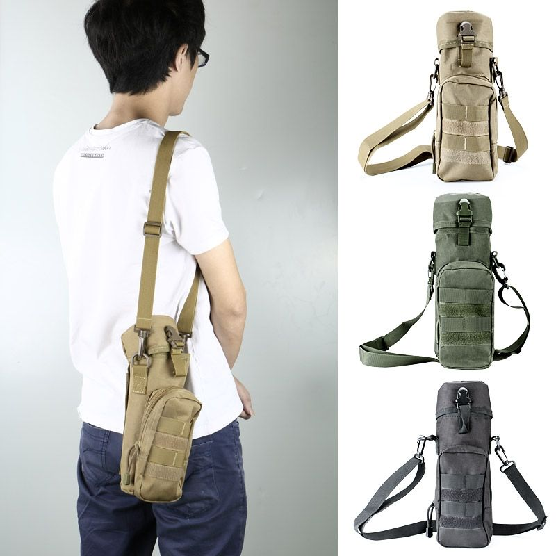 Outdoor Tactical Military Molle System Water Bags Water Bottle Bag ...