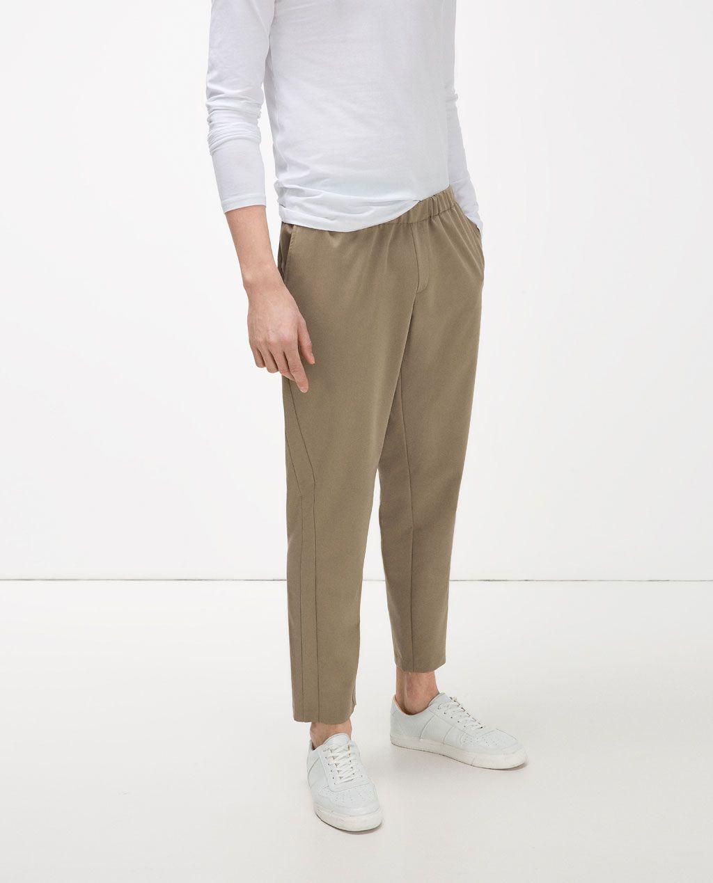 f948cbfe Image 3 of ELASTIC WAIST TROUSERS from Zara | Julyan | Trousers ...