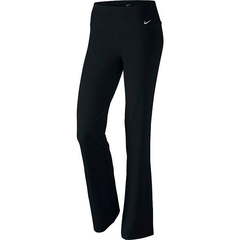 a7373669c85fd Women's Nike Legend Dri-FIT Cotton Classic Workout Pants, Grey (Charcoal)