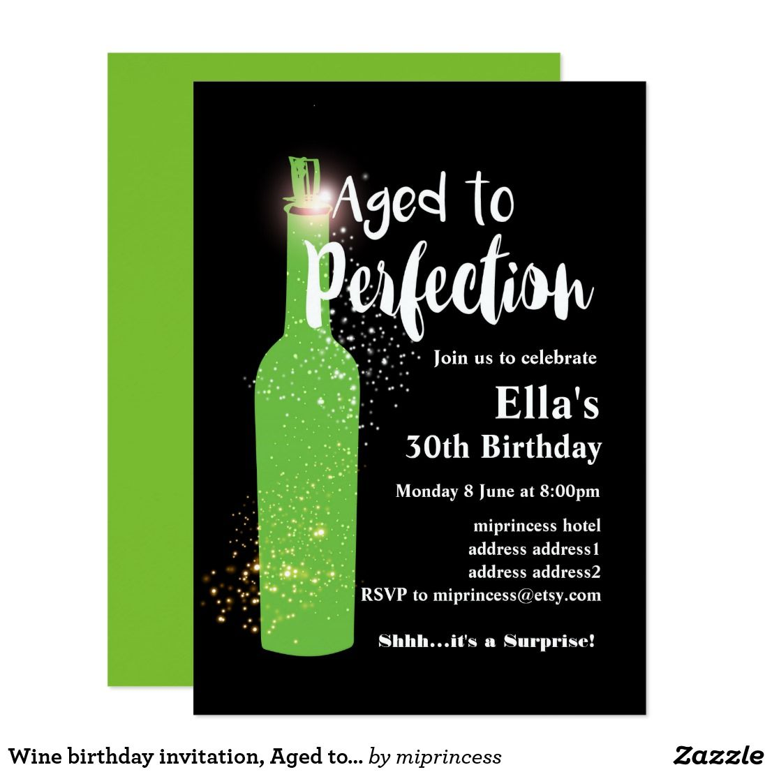 Wine Birthday Invitation Aged To Perfection Invitation In 2018