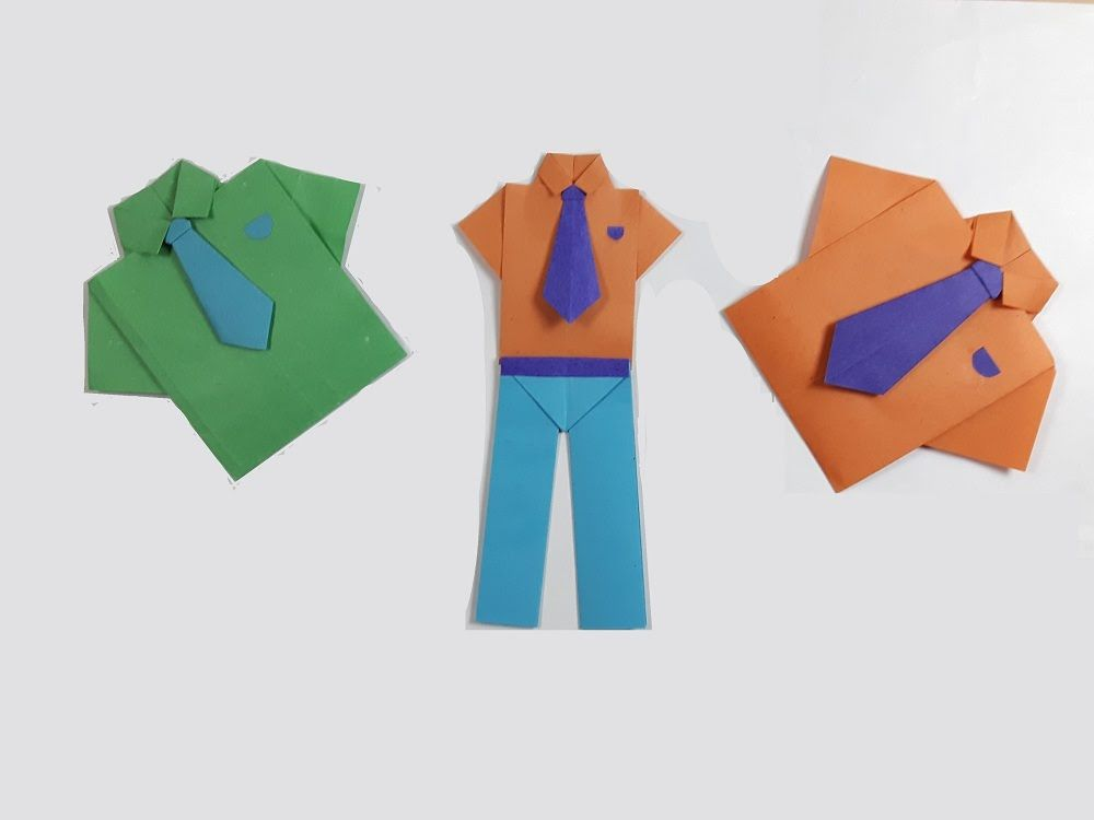 How To Make Paper Shirt and Tie Easy Origami|How To Make An Easy ... | 750x1000