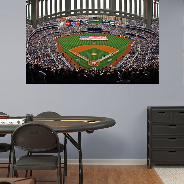 Yankee Stadium American Flag Mural Fathead Wall Graphic | New York Yankees  Wall Decal | Sports