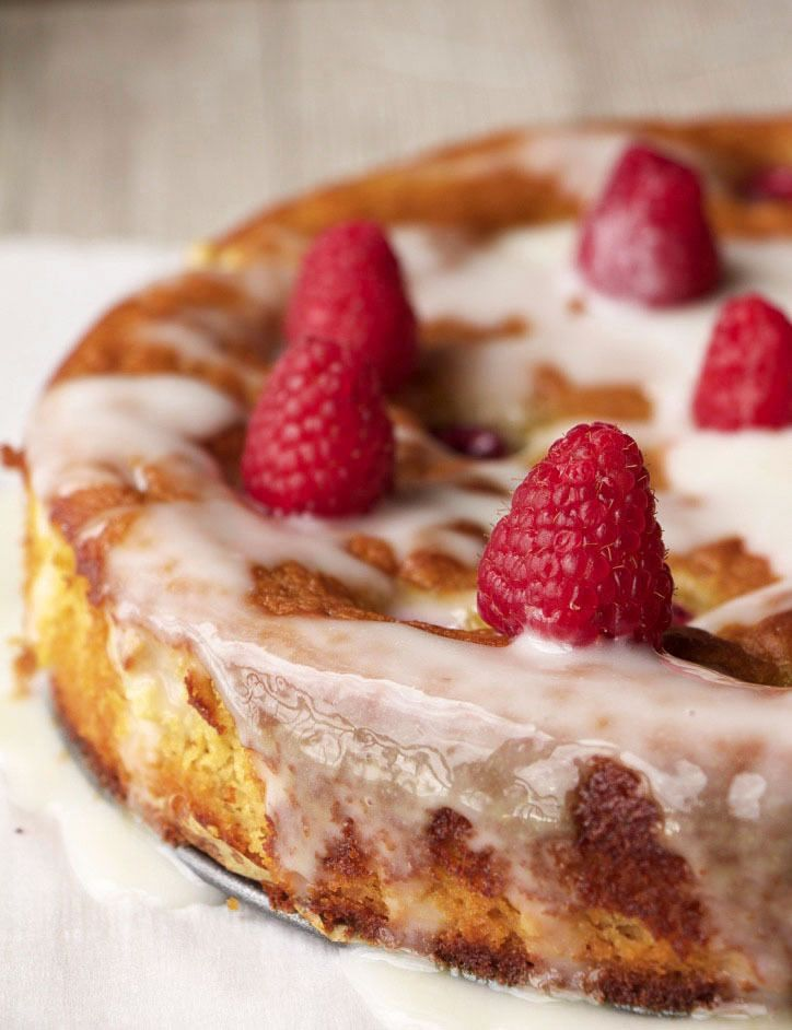 Raspberry Orange Almond Cake Paleo Gluten Free DF Oil Free