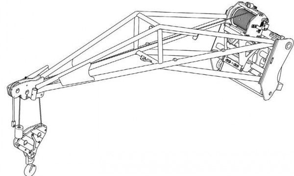 Bobcat 600 kg Hoisting Winch with Jib Service Repair