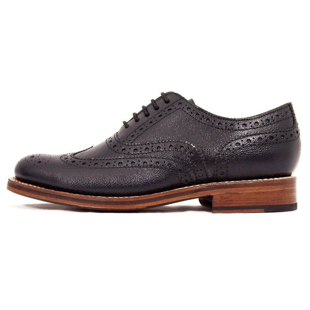 Grenson Stanley Dark Navy Brogue Shoe 5033/455