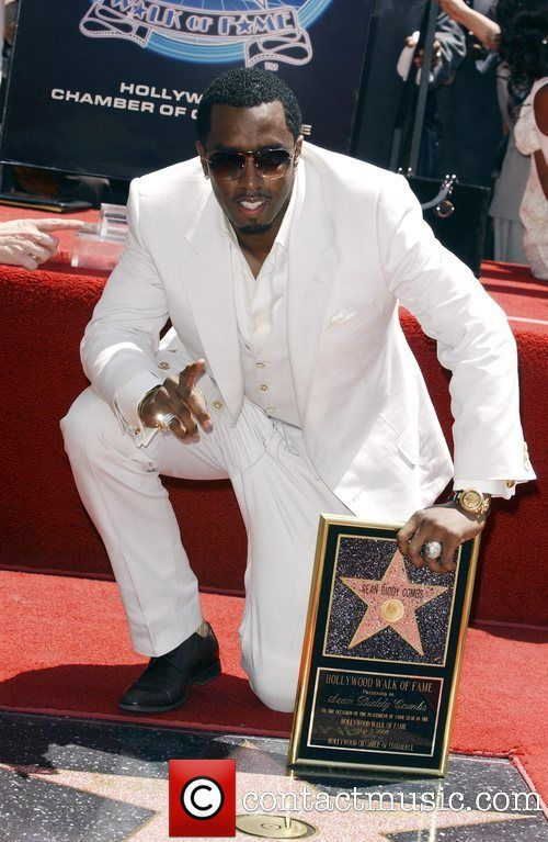 5836ad780df1 Sean Combs aka P Diddy is honoured with a star on the Hollywood Walk ...