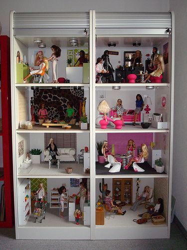 Barbie Bedroom In A Box: Barbie House, Barbie Doll House, Barbie