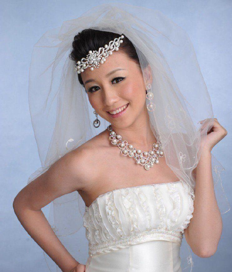 wedding veils and headpieces   Bridal Veils Tiaras Pearl Wedding ...