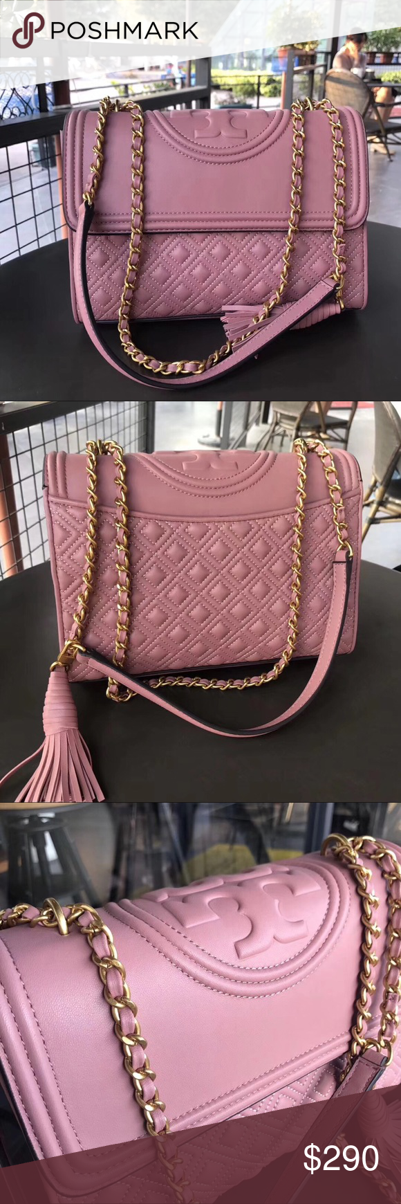 85be9a48d8d Tory burch fleming convertible shoulder bag NEW WITH TAG. COMES WITH DUSTBAG.  Bag Length