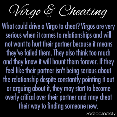 Cheating virgo man If He's