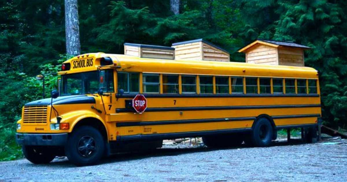 From The Outside It Looks Like A Traditional Yellow School Bus