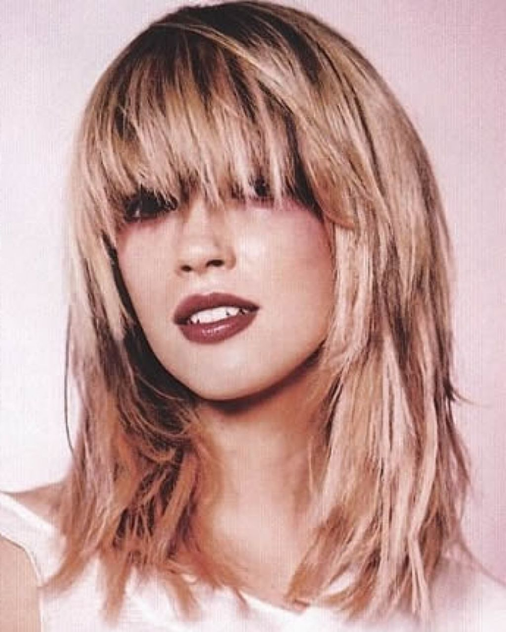 medium layered haircuts with bangs long layered hairstyles