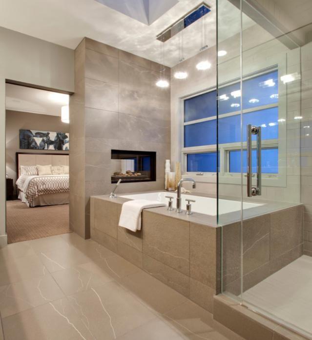Slaapkamer + badkamer - kleuren (stenen), bad | slaapkamer ...