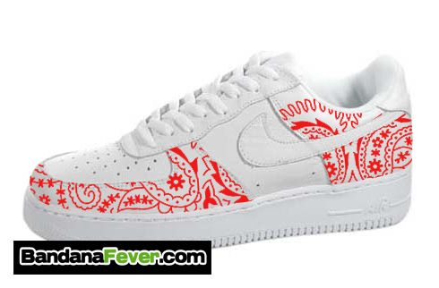 newest f30b0 d0001 Bandana Fever - Nike Air Force 1 Low White