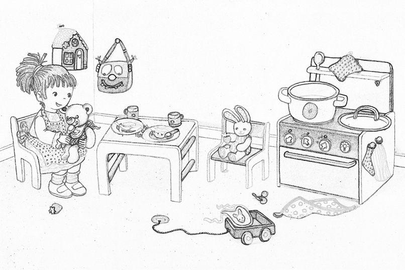 Ausmalbilder Playmobil Kinderzimmer Playmobil