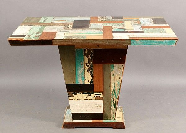 RECYCLED PATCHWORK WOOD DINING TABLE. Wood Dining TablesPatchwork