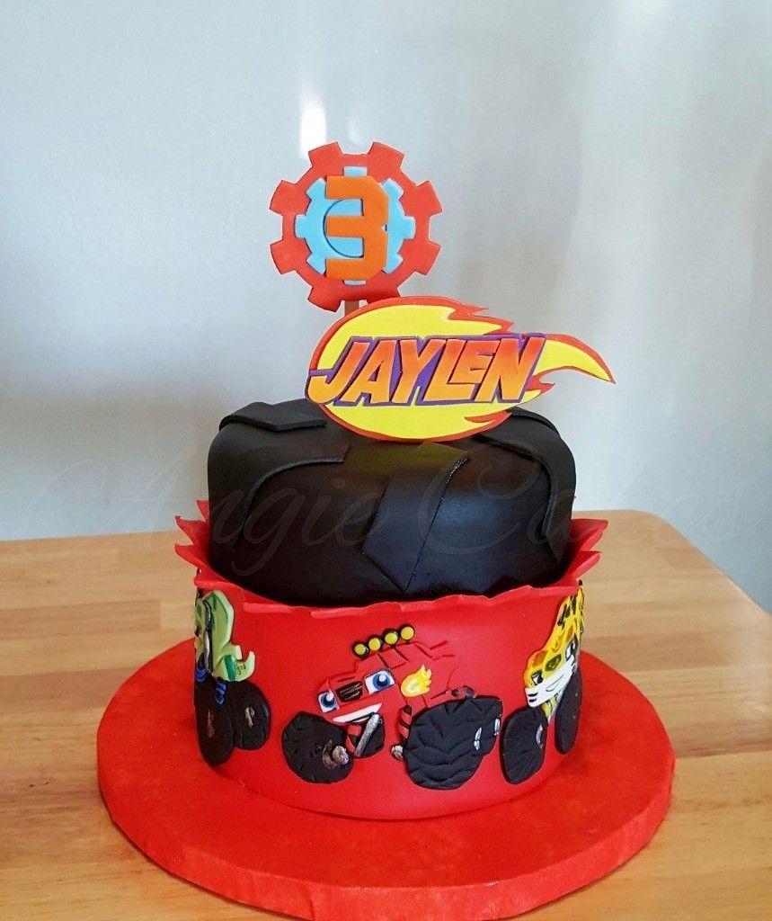 how to make a blaze birthday cake