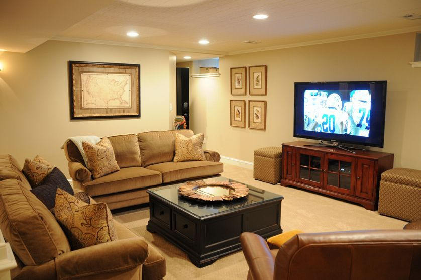 Long Narrow Basement Ideas Basement Living Rooms Basement
