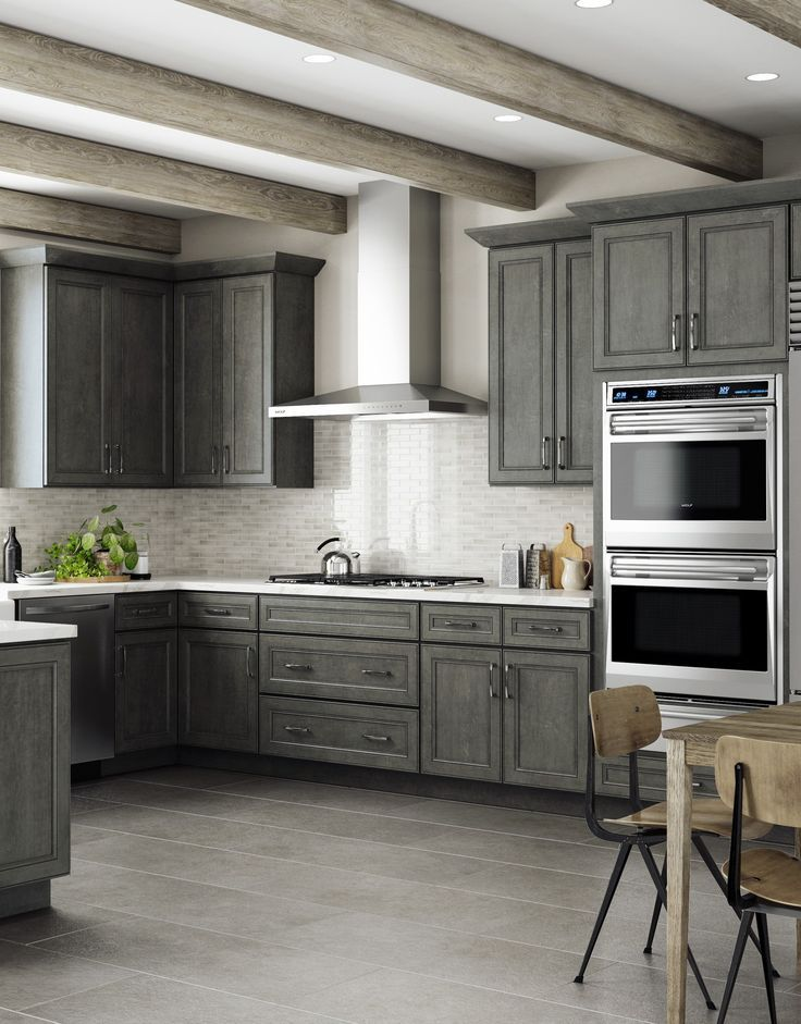 Revamp Your Kitchen This Spring With Our York Driftwood Grey Ready To Assemble Kitchen Cabine Assembled Kitchen Cabinets Cheap Kitchen Cabinets Kitchen Remodel