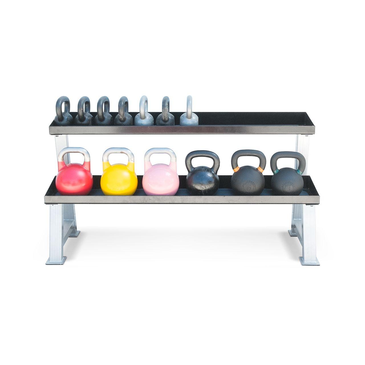 Steel 2tier kettlebell rack holds 1525 kettlebells