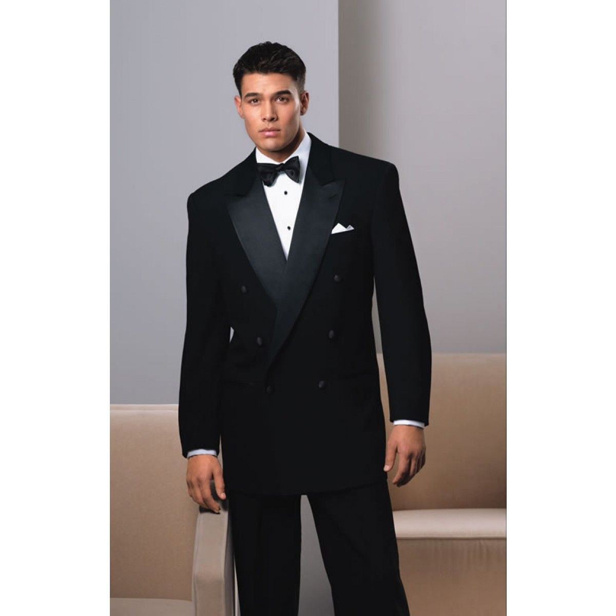 Big and Tall Double Breasted Tuxedo - Super 150 Wool!   CHESTI DE ...