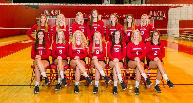 Summit League Volleyball Teams Announced University Of South Dakota Athletics Women Volleyball Volleyball Team Volleyball News
