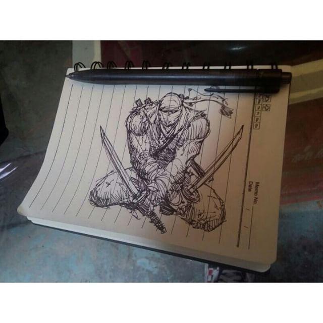 regram @patleeart Sketchin ninjas. #ninja #blade #sword #sketch