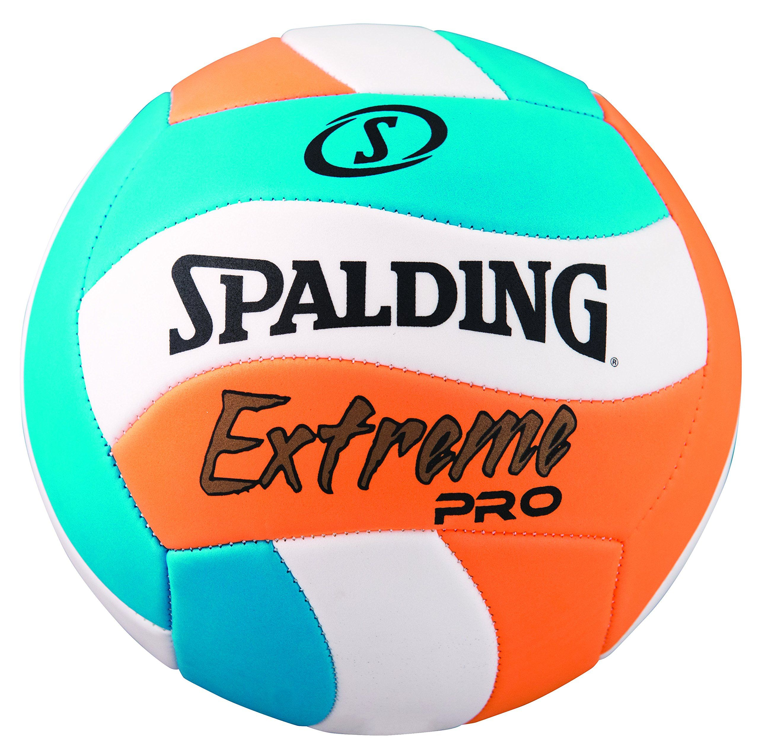 Spalding Extreme Pro Wave Volleyball Blue Orange Official Size Machine Stitched Tpe Cover With Wave Panel Design Official S Volleyballs Spalding Volleyball