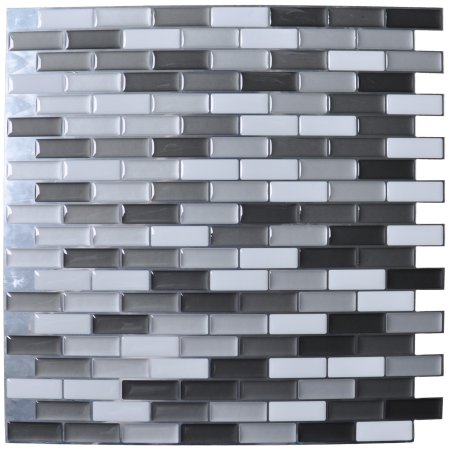 Wondrous Art3D Peel And Stick Kitchen Backsplash Wall Tile Gray Home Interior And Landscaping Oversignezvosmurscom