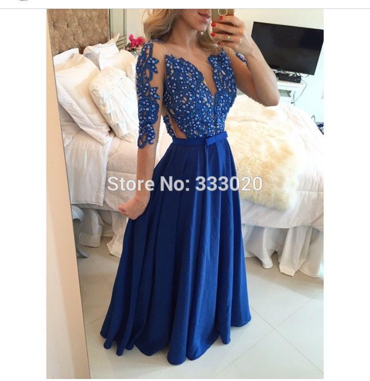 Vestido longo azul turquesa barato
