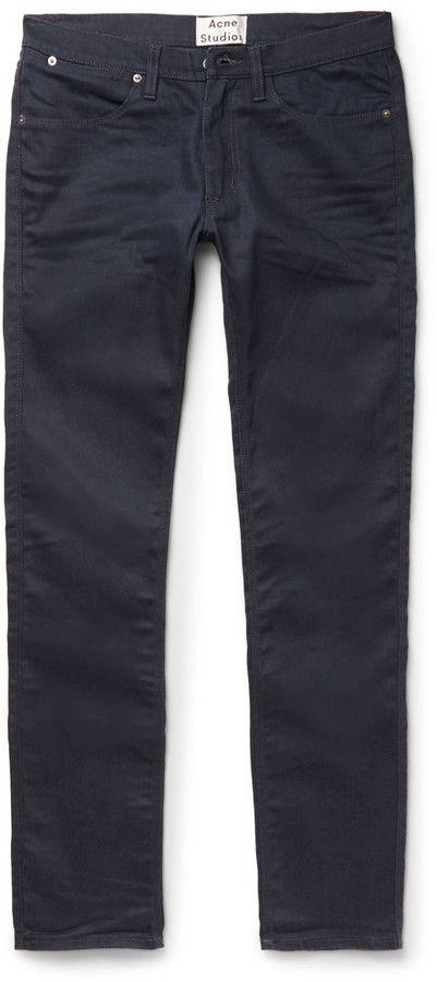 632a2e33740 Acne Studios Max Slim-Fit Stretch-Denim Jeans. Găsește acest Pin și încă  altele în Mens Low Rise ...