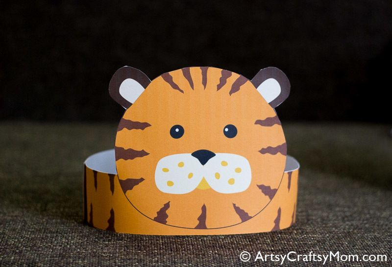 Tiger Paper Crown Free Template With Images Crown For Kids