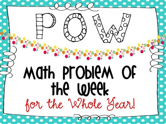 Math Problem of the Week for the Entire Year