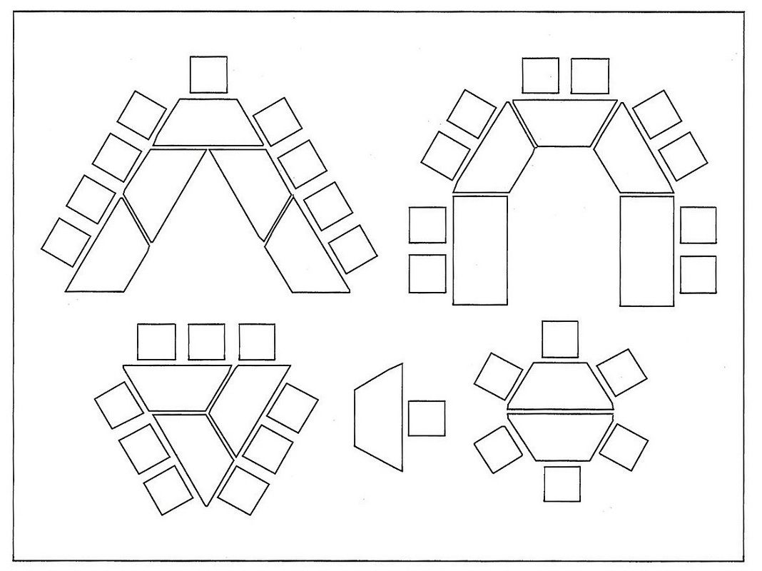 Desk Arrangement Hexagon Tables